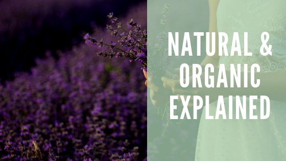 Natural and organic products explained